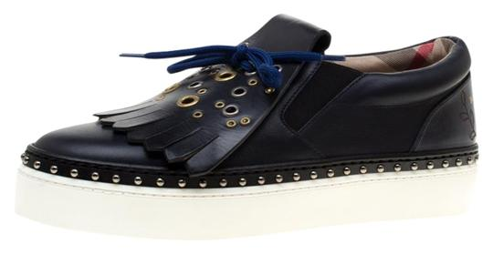 Preload https://img-static.tradesy.com/item/25377482/burberry-blue-navy-leather-kiltie-fringe-slip-on-sneakers-flats-size-eu-37-approx-us-7-regular-m-b-0-1-540-540.jpg