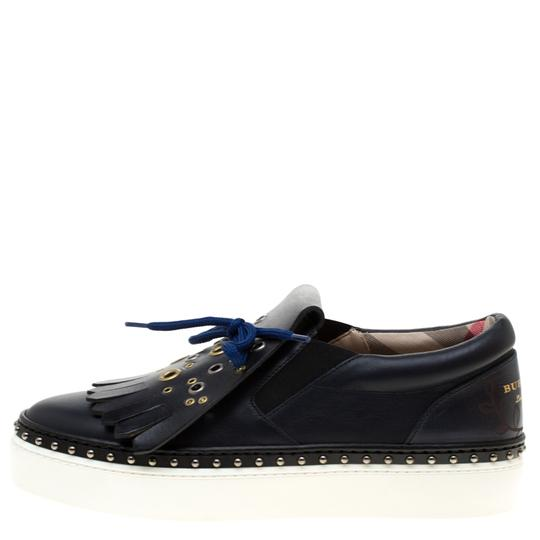 Burberry Leather Blue Flats Image 1