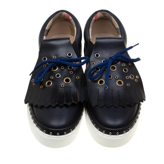 Burberry Leather Blue Flats Image 2