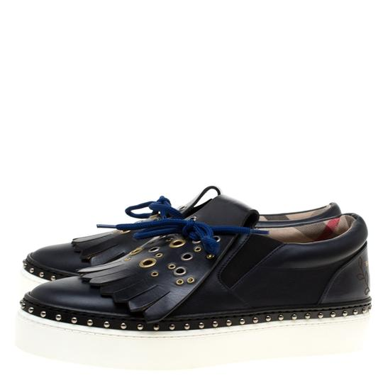 Burberry Leather Blue Flats Image 3