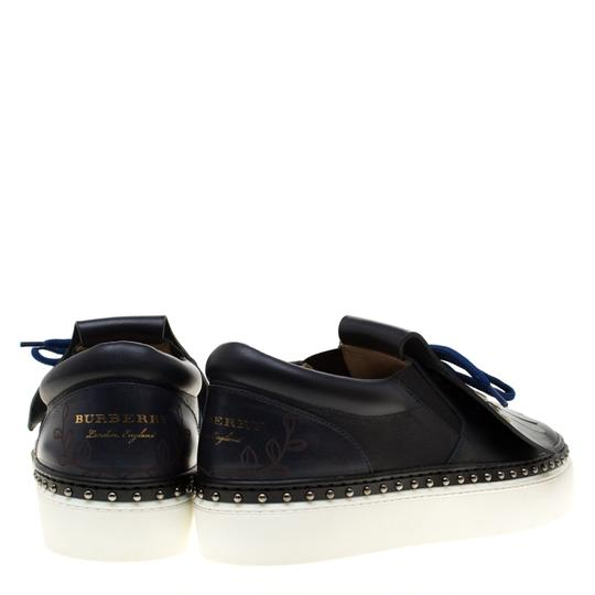 Burberry Leather Blue Flats Image 4