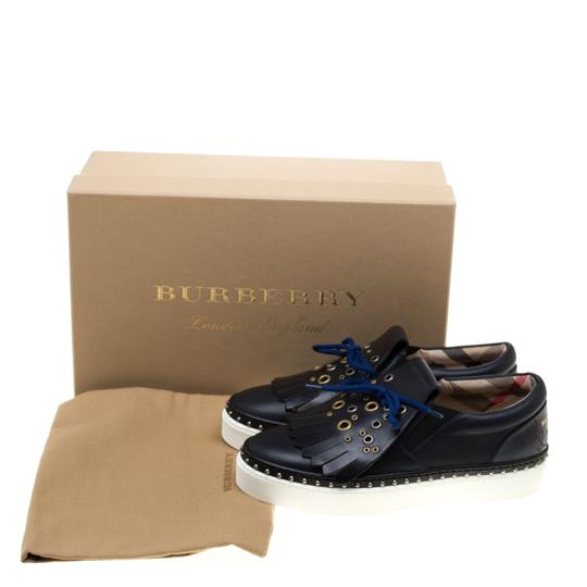 Burberry Leather Blue Flats Image 8