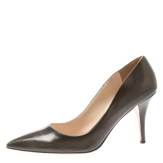Prada Leather Pointed Toe Brown Pumps Image 1