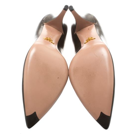 Prada Leather Pointed Toe Brown Pumps Image 5