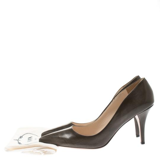 Prada Leather Pointed Toe Brown Pumps Image 7