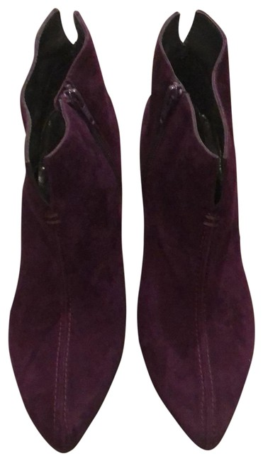 Item - Purple Suede with Zipper Boots/Booties Size US 7.5 Regular (M, B)
