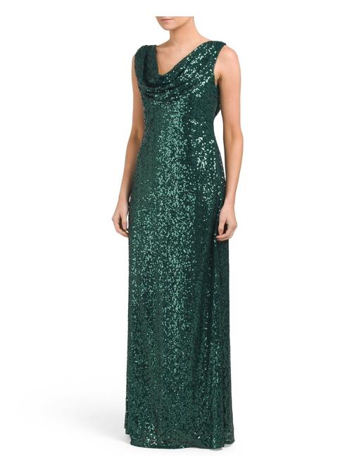 Preload https://img-static.tradesy.com/item/25377559/cachet-green-sequin-evening-ball-gown-long-formal-dress-size-10-m-0-0-650-650.jpg