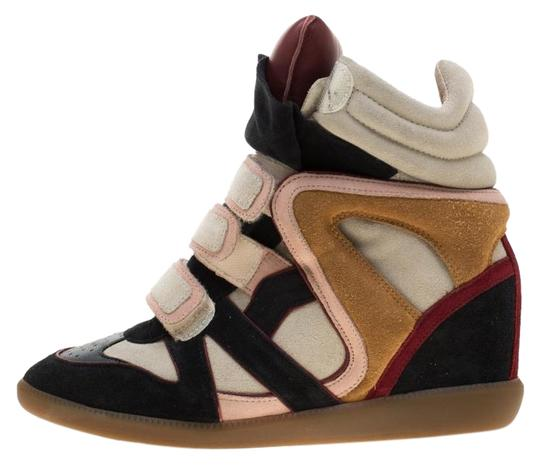 Preload https://img-static.tradesy.com/item/25377594/isabel-marant-multicolor-suede-and-leather-bekett-wedge-sneakers-flats-size-eu-40-approx-us-10-regul-0-1-540-540.jpg