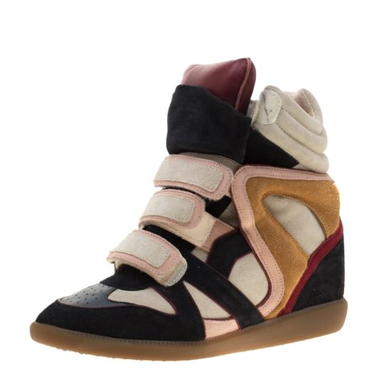 Isabel Marant Suede Leather Multicolor Flats Image 1