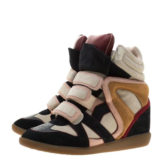 Isabel Marant Suede Leather Multicolor Flats Image 3