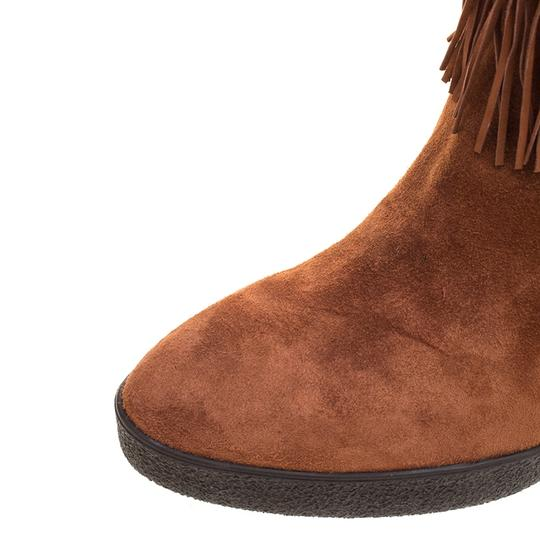 Le Silla Suede Wedge Leather Brown Boots Image 6