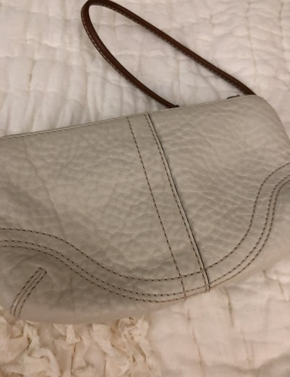 Coach Wristlet in off white. tans leather trim Image 3