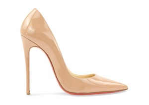 Christian Louboutin Patent Leather Stiletto Nude Pumps