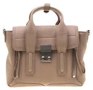 3.1 Phillip Lim Leather Satchel in Beige