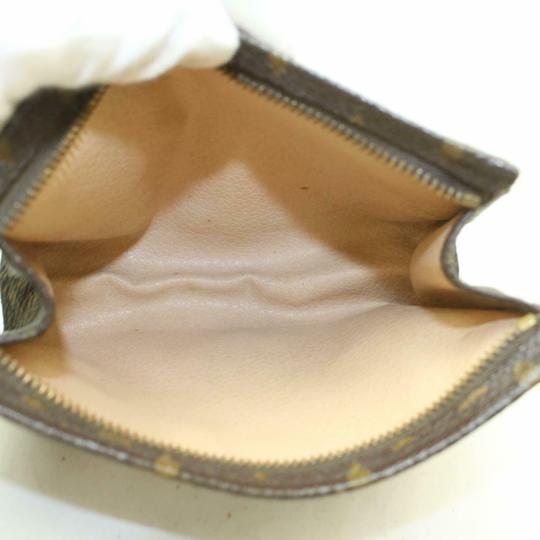 Louis Vuitton Pouch Cosmetic Make Up Flat Brown Clutch Image 2