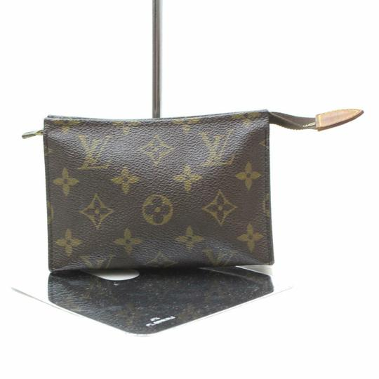 Louis Vuitton Pouch Cosmetic Make Up Flat Brown Clutch Image 4