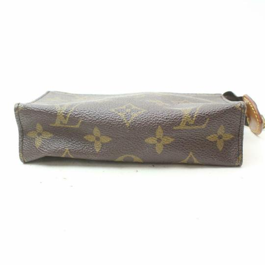 Louis Vuitton Pouch Cosmetic Make Up Flat Brown Clutch Image 6