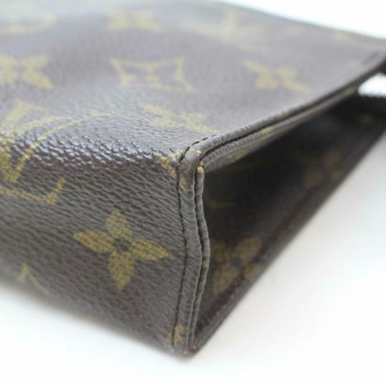 Louis Vuitton Pouch Cosmetic Make Up Flat Brown Clutch Image 8