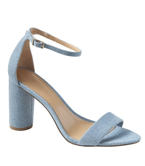 Banana Republic Blue Denim Sandals Image 1