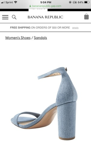 Banana Republic Blue Denim Sandals Image 2