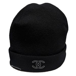 Chanel Chanel Cashmere CC Fall Act 1 Knit Black Beanie