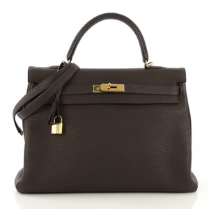 Hermès Leather Tote in Cafe brown