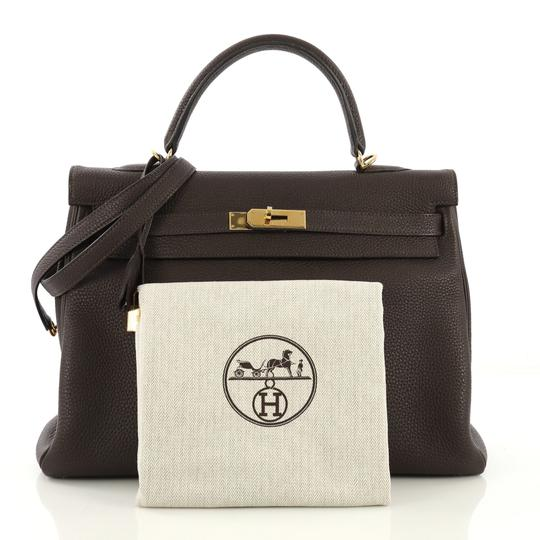 Hermès Leather Tote in Cafe brown Image 1