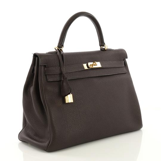 Hermès Leather Tote in Cafe brown Image 2