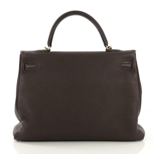 Hermès Leather Tote in Cafe brown Image 3