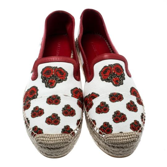 Alexander McQueen Canvas Leather White Flats Image 2
