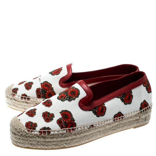Alexander McQueen Canvas Leather White Flats Image 3