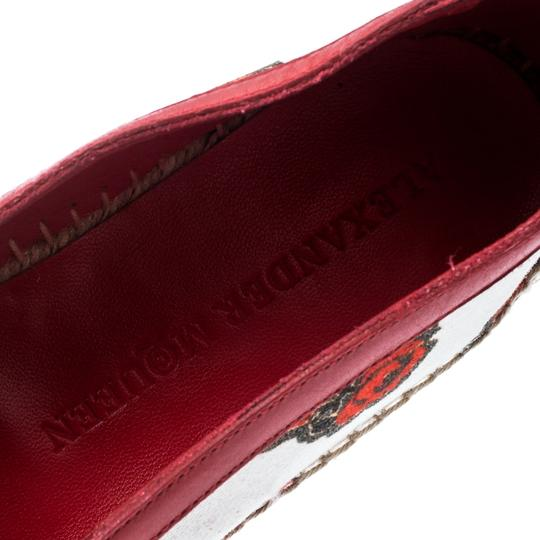 Alexander McQueen Canvas Leather White Flats Image 6