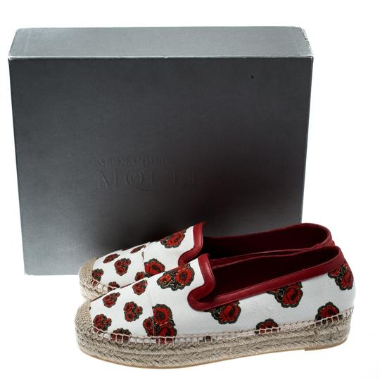 Alexander McQueen Canvas Leather White Flats Image 7