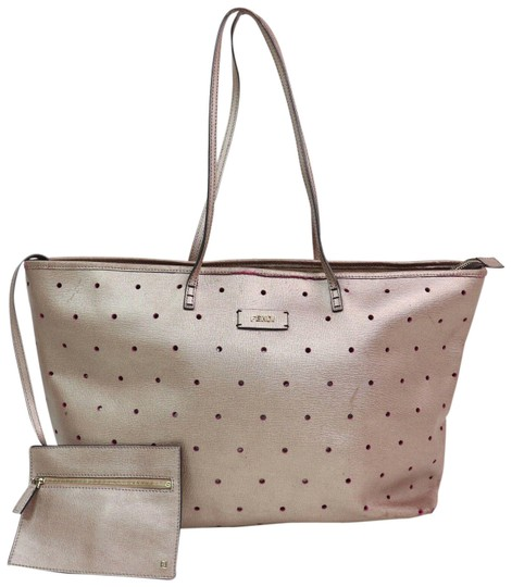 Preload https://img-static.tradesy.com/item/25377865/fendi-metallic-perforated-roll-with-pouch-870587-pink-leather-tote-0-2-540-540.jpg