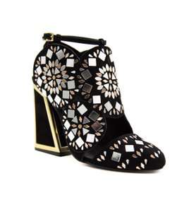 Kat Maconie Dress Pump Sexy Party Cocktail Party Black with Light Gold Formal