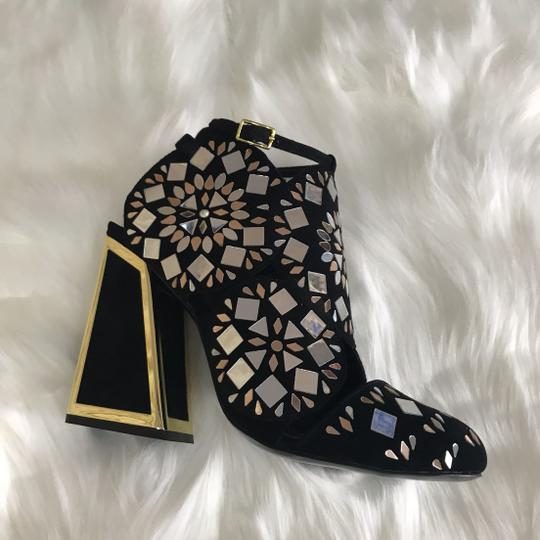 Kat Maconie Dress Pump Sexy Party Cocktail Party Black with Light Gold Formal Image 2