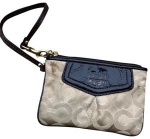 Coach Wristlet in Light/Khaki/Brown