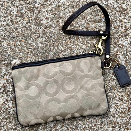 Coach Wristlet in Light/Khaki/Brown Image 2
