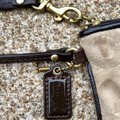 Coach Wristlet in Light/Khaki/Brown Image 4