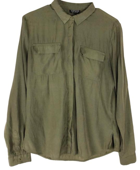 Preload https://img-static.tradesy.com/item/25377985/topshop-olive-green-button-up-shirt-button-down-top-size-8-m-0-1-650-650.jpg