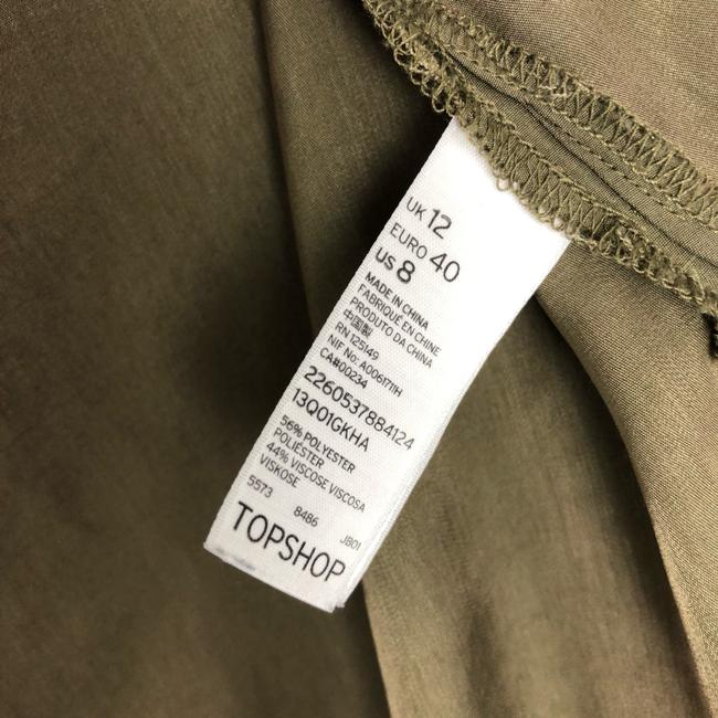 Topshop Button Down Shirt Olive Green Image 3