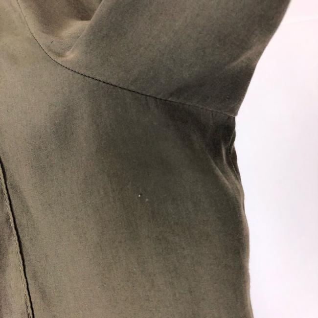 Topshop Button Down Shirt Olive Green Image 5