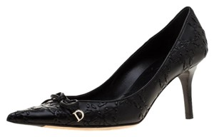 Dior Leather Pointed Toe Rubber Black Pumps