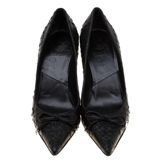 Dior Leather Pointed Toe Rubber Black Pumps Image 2