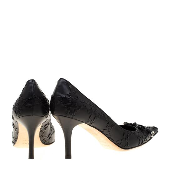 Dior Leather Pointed Toe Rubber Black Pumps Image 4