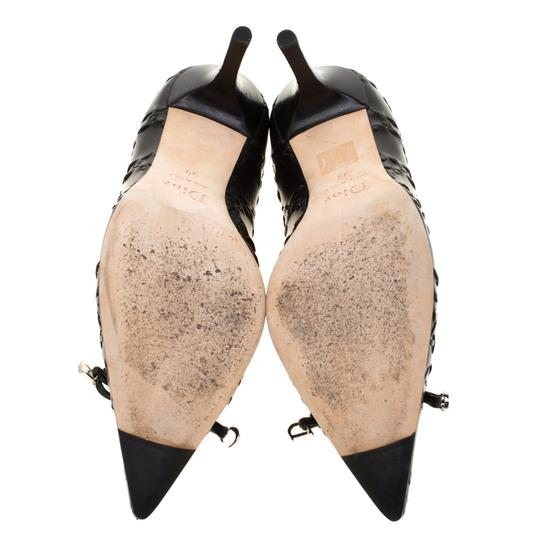 Dior Leather Pointed Toe Rubber Black Pumps Image 5
