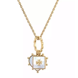 Tory Burch Tory Burch Mother of Pearl Charm Necklace
