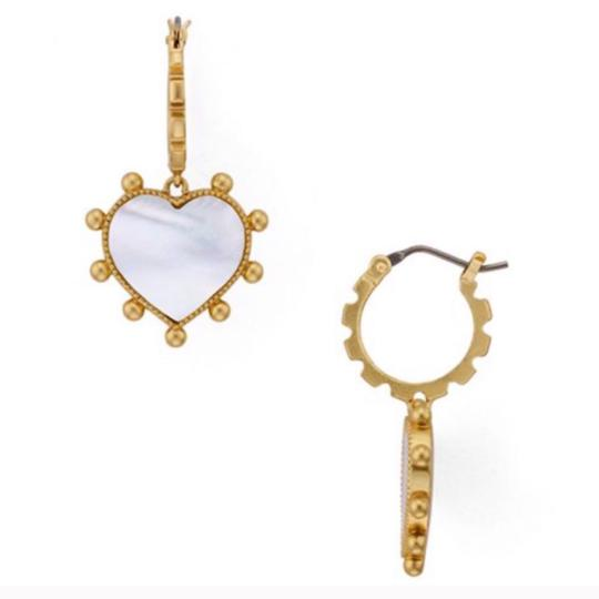 Tory Burch Tory Burch Mother of Pearl Heart Earrings Image 2