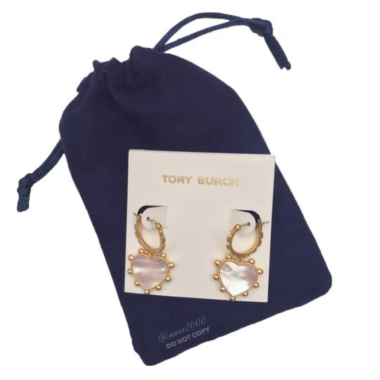 Tory Burch Tory Burch Mother of Pearl Heart Earrings Image 3