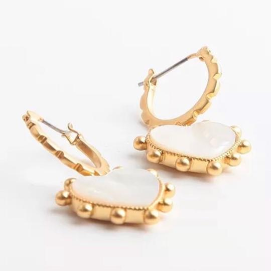 Tory Burch Tory Burch Mother of Pearl Heart Earrings Image 4